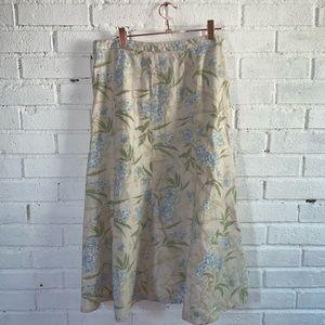 Eddie Bauer skirt size six, blue floral pattern